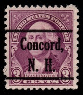 """USA Precancel Vorausentwertung Preo, """"CONCORD"""" (NH). 3 Cents. - Preobliterati"""