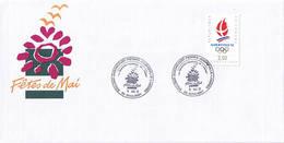 Fêtes De Mai 1991. Bouligny, Baroncourt, Piennes, Joudreville Et Landres. Enveloppe Commémorative. - Gedenkstempels