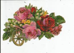 DECOUPI   PANIER DE FLEUR DANS BROUETTE - Fleurs