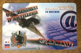 ARMÉE 61eme REGIMENT D'ARTILERIE SOLDAT MILITAIRES DRONE CARTE PASSMAN 10H WIFI WI FI INTERNET TÉLÉCARTE PHONECARD - Armée