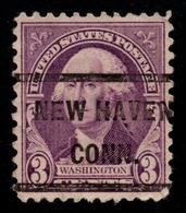 """USA Precancel Vorausentwertung Preo, """"NEW HAVEN"""" (CONN). 3 Cents. - Preobliterati"""