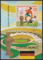 Guinea Equatoriale 1974 Bf. 96B FIFA RIMET Sheet Imperf. CTO Coppa Del Mondo Monaco - Coppa Del Mondo