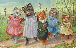 Chats, Cats, Katzen, Misgiu, Gatos, Macskàk, Gatti, Katten, Katter, Koty, Kediler. Arthur Thiele. - Gatti