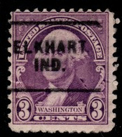 "USA Precancel Vorausentwertung Preo, ""ELKHART"" (IND). 3 Cents. - Preobliterati"