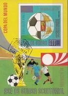 Guinea Equatoriale 1973 Bf. 87B FIFA RIMET Sheet Imperf. CTO Coppa Del Mondo Monaco Gerson Albertos - Coppa Del Mondo