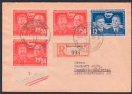 Monat Der Deutsch-Sowjetischen Freundschaft Stalin Pieck, R-Bf Portogenau DDR 297 Oberlungwitz Strumpfindustrie - Lettres & Documents