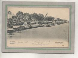 CPA - (68) MULHOUSE - Mots Clés: Canal, Chemin De Halage, écluse, Grue Portuaire, Nouveau Bassin - 1907 - Mulhouse