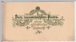 (9289) Glückwunschkarte Hochzeit, Prägekarte 1932 - Hochzeiten
