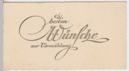 (9746) Glückwunschkarte Hochzeit, Prägekarte, Vor 1945 - Hochzeiten