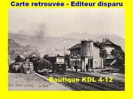 BVA 646-09 - Vue D'ensemble De La Gare - Loco N° 38 -SAINT-JEOIRE EN FAUCIGNY - Haute Savoie - CEN - Reproduction - Saint-Jeoire