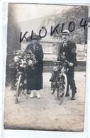 37 Loches ( Indre Et Loire ) Homme Femme Vélos Fleuris - Fêtes D'été Ou Cavalcade ? - CARTE PHOTO CHARROIN  M IMBERT - Loches