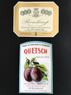•• NEW ••  ETIQUETTES Anciennes PITZ SCHWEITZER  Ettelbruck Luxembourg Vers 1950/1960 Alcool Biere Brasserie Liqueur (2) - Luxembourg