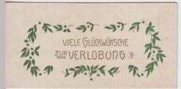 (10399) Glückwunschkarte Zur Verlobung Vor 1945 - Hochzeiten