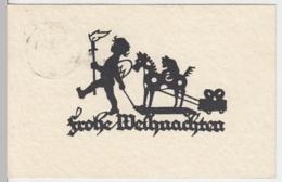 (10537) AK Scherenschnitt >Frohe Weihnachten< 1940 - Scherenschnitt - Silhouette