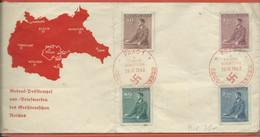 BOHEME ET MORAVIE FDC DE 1942 DE PRAGUE (PLI) - FDC