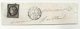 YT#3 Oblitéré GRILLE + CàD Type 15 De CHATEAU THIERRY (Aisne). Indice 15 = 160 Euros - 1849-1850 Cérès