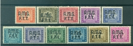 Trieste 1947/49 - Y & T N. 5/15 Timbres-taxe - Timbres-taxe Avec Surcharge A - 7. Triest