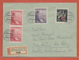 BOHEME ET MORAVIE LETTRE RECOMMANDEE DE 1943 DE MAHRISCH - FDC