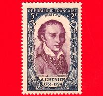 Nuovo - MNH - FRANCIA - 1950 - Rivoluzione Del 1789 - Andre Chenier (1762-1794) - 5+2 - Francia