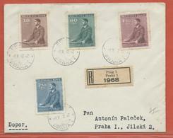 BOHEME ET MORAVIE LETTRE RECOMMANDEE DE 1942 DE PRAGUE - FDC
