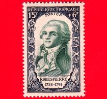 Nuovo - MNH - FRANCIA - 1950 - Rivoluzione Del 1789 - Robespierre (1758-1794) - 15+6 - Francia