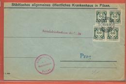 BOHEME ET MORAVIE LETTRE DE SERVICE DE 1942 DE PILSEN POUR PRAGUE - FDC