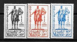 MAROC Protectorat : Série 241 à 243 Neuve **  TB (cote : 6,60 €) - Nuovi