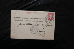 Germany Bavaria 10pf Coat Of Arms On Post Card 1912 A04s - Bavaria