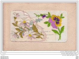 Cpa  Réf-JP-O-236 (  BRODEE )  Avec  Des Fleurs - Embroidered