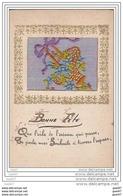 Cpa - Réf Z0.148  ( Brodée   )        BONNE  FETE - Embroidered
