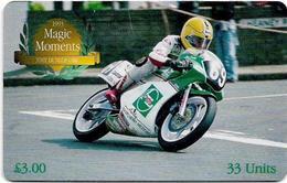 Isle Of Man - Chip - 2000 Magic Moments - Joey Dunlop OBE 1993 - 33U, 2001, 10.000ex, Used - Man (Isle Of)