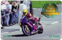 Isle Of Man - Chip - 2000 Magic Moments - Joey Dunlop OBE 2000 - 33U, 2001, 10.000ex, Used - Man (Eiland)