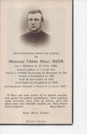 Généalogie Faire-part Décès Abbé Henri Noir Né à Melisey 1885 Besançon Montbéliard Courchaton Rougemont Paris - Décès