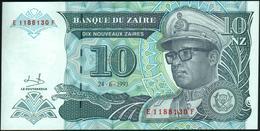 ZAIRE - 10 Nouveaux Zaires 24.06.1993 {printed By HDMZ} UNC P.55 - Zaire