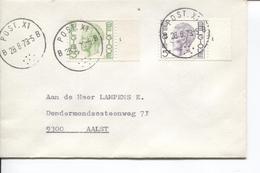 REF599/ TP 1694 - 1645 Baudouin Elström + N° De Planche N°1 S/L. C.Post.X1 2/8/79 > Aalst - Posta Militare
