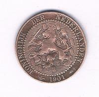 1 CENTS  1901  NEDERLAND /2212// - [ 3] 1815-…: Königreich Der Niederlande