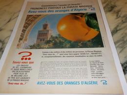 ANCIENNE PUBLICITE ORANGE D ALGERIE 1969 - Affiches