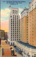 North Carolina Durham One Eleven Corcoran Street Building And Washington Duke Hotel Curteich - Durham