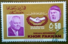1966 SHARJAH Khor Fakkan Chancellor Ludwig Erhard, Germany 50np - Usato - Sharjah