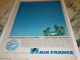 ANCIENNE PUBLICITE CES PALMIERS  AIR FRANCE   1969 - Publicités