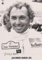 Jochen Mass. Photo De Presse. Pilote Automobile. Formule 1, Team Warsteiner En 1979 Et 1980. 24 Heures Du Mans. Allemand - Automobiles