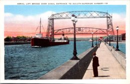Minnesota Duluth Aerial Lift Bridge Over Canal Entrance To Duluth-Superior Harbor - Duluth