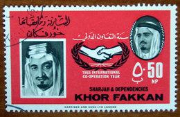 1966 SHARJAH Khor Fakkan King Faisal Bin Abdul Aziz, Saudi-Arabia 50np - Usato - Sharjah
