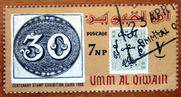 1966 UMM AL QIWAIN Filatelia Mostra Filatelica Stamps From Brasil And Egypt  7np - Usato - Umm Al-Qiwain