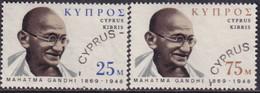 Cyprus 1970 SG #343-44 Compl.set Used Mahatna Gandhi - Zypern (...-1960)