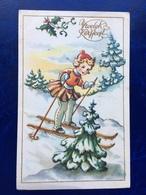 """Cp--""""Fillette Skieant Dans Une Descente""""--(1912) - Other"""