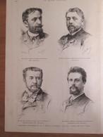 Grande Gravure  1888  Exposition Universelle De Paris  1889 Ingénieur Et Architectes Tour Eiffel - Unclassified