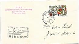 "121 - 48 - Enveloppe Avec Oblit Spéciale ""LUBA Dübendorf 1941"" - Postmark Collection"
