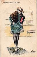 Illustrateur Baer Chauffage Central Femme Les Frileuses - Autres Illustrateurs
