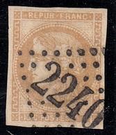 FRANCIA 1870 GOVERNO PROVVISORIO CERERE UNIF. N. 43a VFU CERTIFICATO SPLENDIDO - 1870 Emisión De Bordeaux
